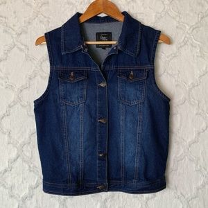 Cotton On Dark Wash Jean Vest